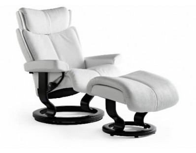 Ekornes Stressless Magic Medium Recliner with Ottoman