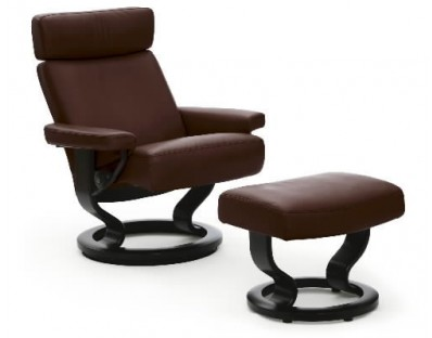Ekornes Stressless Orion Recliner with Ottoman