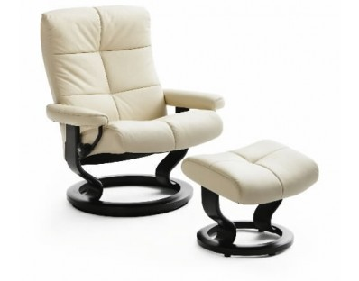 Ekornes Stressless Oxford Large Recliner with Ottoman