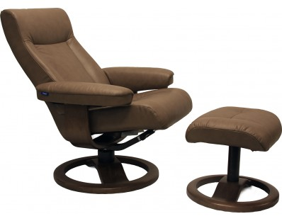 Hjellegjerde Fjords Scansit 110 Chair Cappuccino Leather with Walnut Base