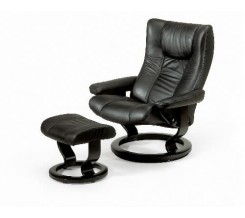 Ekornes Stressless Eagle Recliner with Ottoman