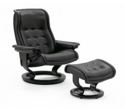 Ekornes Stressless Royal '09 Large Recliner with Ottoman