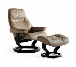 Ekornes Stressless Sunrise Small Recliner with Ottoman