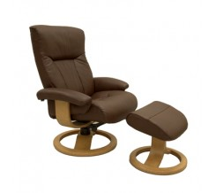 Fjords Scandic Recliner with Ottoman